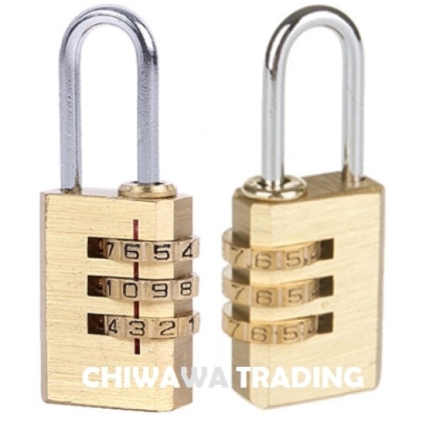 Security Customs 3 Digit Combination Password Code Luggage Padlock Travel Bag Suitcase Cable Lock