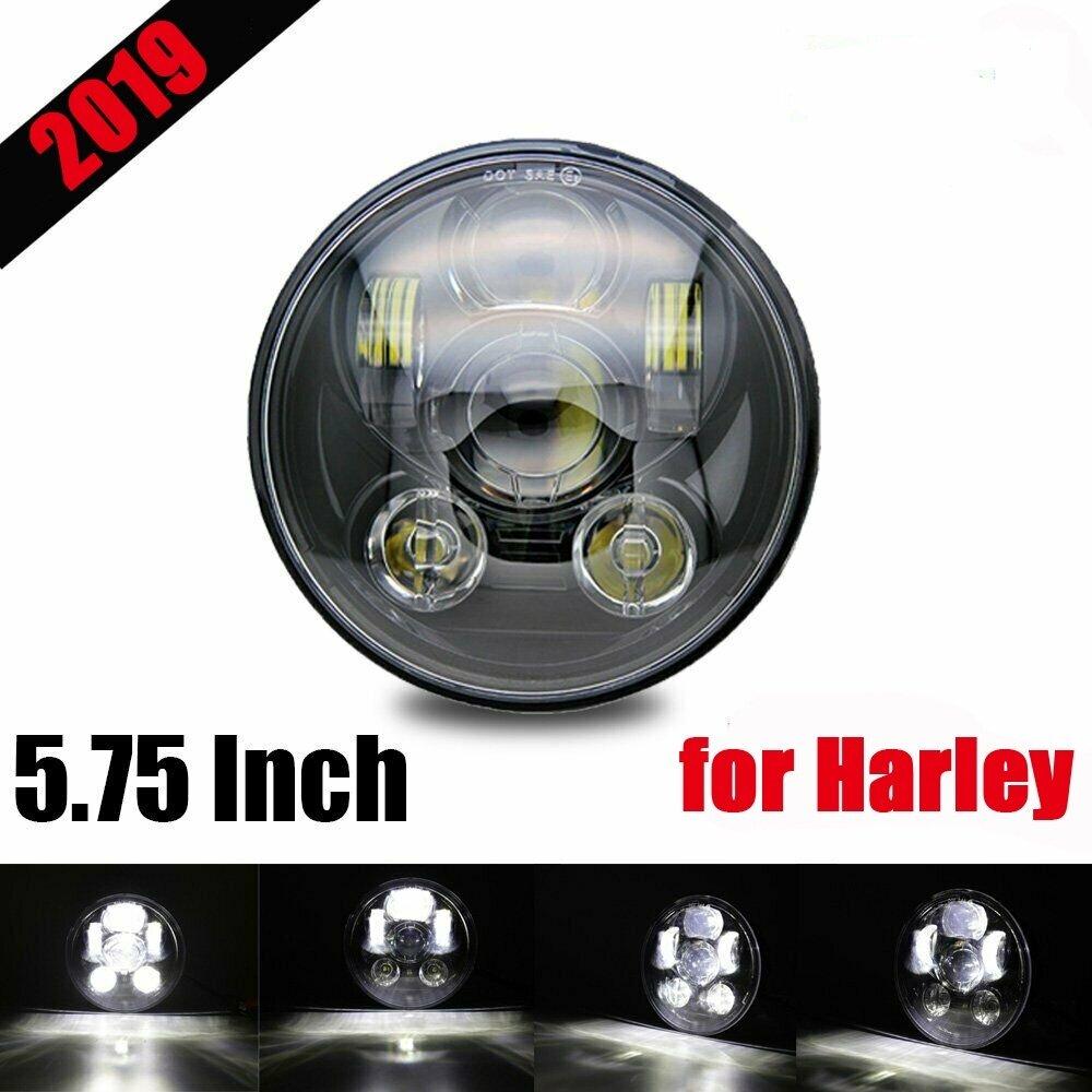 "Cree 5.75/"" 5 3//4 LED Headlight Black Projector DRL For Harley Davidson"