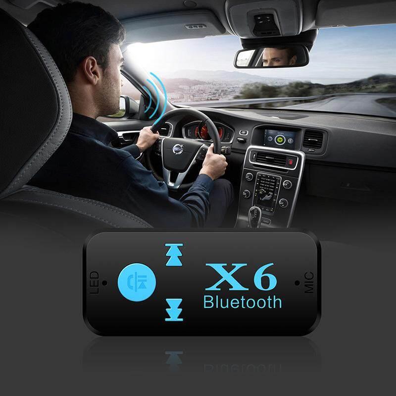 3 In1 X6 Xe Ô Tô Không Dây Bluetooth Âm Nhạc Bộ Thu Tín Hiệu Âm Thanh AUX Jack 3.5 Mm Stereo Dongle Adapter Thẻ TF A2DP