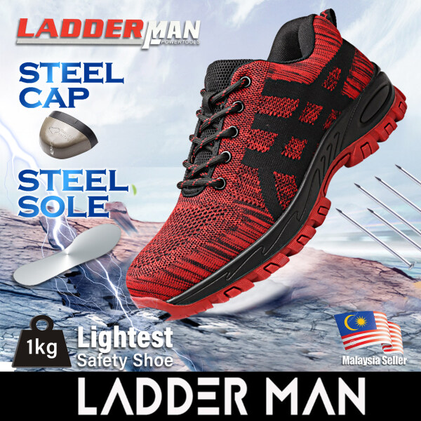 Ladderman Steel Toe Cap Midsole Low Cut Safety Boots Fly Weave Fabric Safety Shoe LDM-268 Kasut Safety Jenis Sport (Tak Panas Dan Berkualiti)