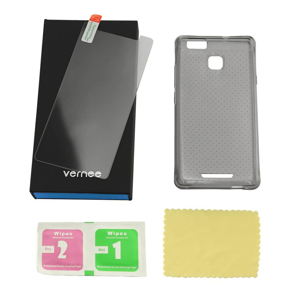 Phone Protective Case + Tempered Glass Screen Protector for 5.0 Inches vernee Thor E Eco-
