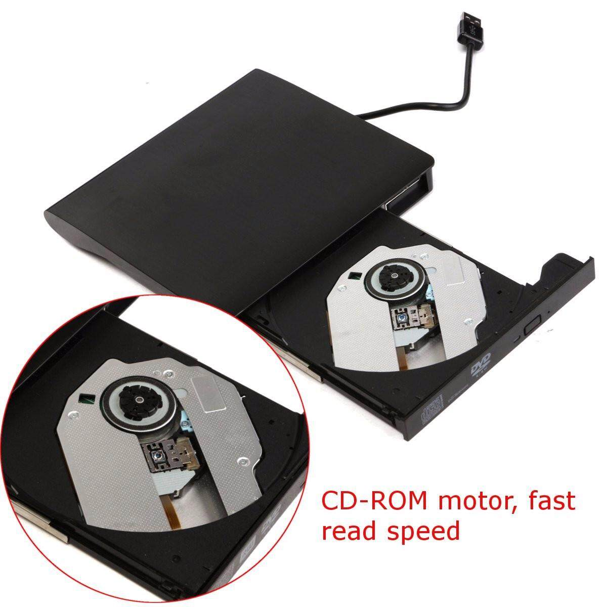 【Free Shipping + Flash Deal】External USB3.0 DVD/CD RW Drive Reader Writer Burner For Notebook Laptop PC