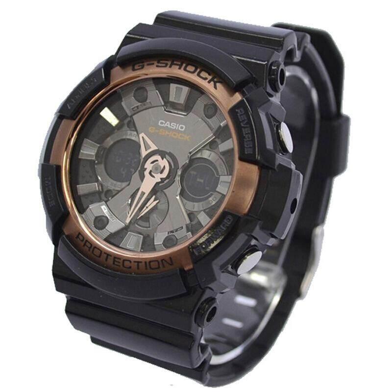 ยี่ห้อนี้ดีไหม  เพชรบุรี 【 STOCK】Original _ Casio_G-Shock GA200 Duo W/เวลา 200M กันน้ำกันกระแทกและกันน้ำโลกนาฬิกากีฬาไฟแอลอีดีอัตโนมัติ Wist นาฬิกากีฬาสำหรับ MenBlack ทองคำสีกุหลาบ GA