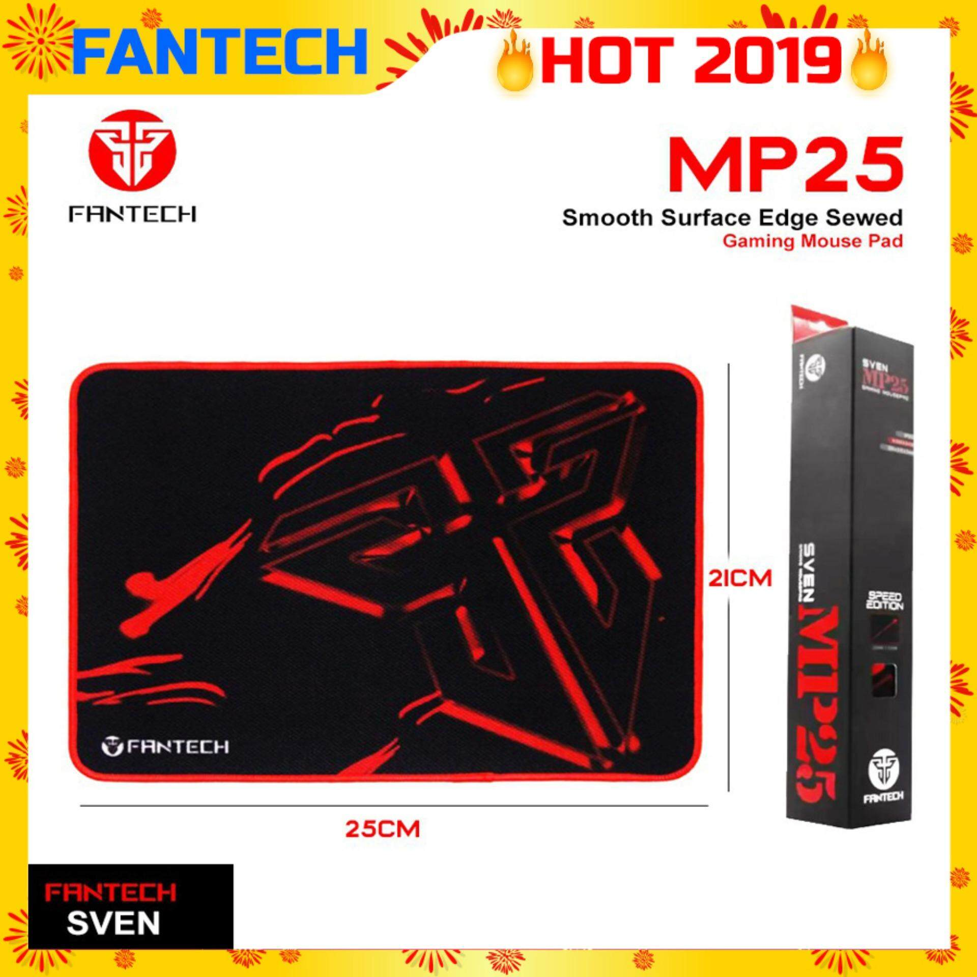 Fantech SVEN MP25 High Non-Slip Base Gaming Mouse Pad with Edge Sewed (Black mix Red) Malaysia
