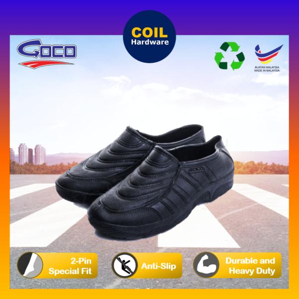 🔥 GOCO 910 Black Safety Rubber Boot Shoes | Kasut Getah Hitam 910