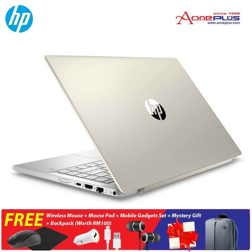HP Pavilion 14 14-ce1063TX/ 14-ce1064TX Notebook /i7-8565U /4GB/1TB+128GB/MX150-2GB/14Inch FHD/Win 10+Free Wireless Mouse + Mouse Pad + Mobile Gadgets Set + Mystery Gift + Backpack (Worth RM100)