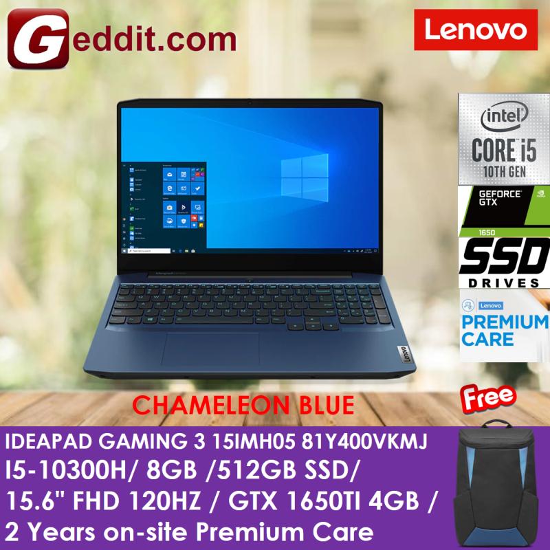LENOVO IDEAPAD GAMING 3 15IMH05 81Y400VKMJ LAPTOP (I5-10300H,8GB,512GB SSD,15.6 FHD IPS,120Hz,GTX1650Ti 4GB,WIN10) (3-15IMH05 / 3-15IMH) + FREE STYLISH BACKPACK Malaysia