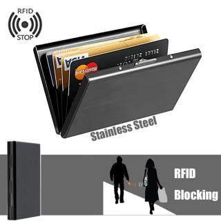 Windy Hộp đựng thẻ tín dụng bằng thép không gỉ cao cấp, hộp bảo vệ giúp chặn các máy quét RFID - INTL thumbnail