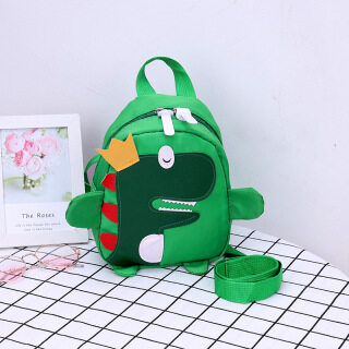 New Cartoon Children s Backpack Nylon Water Proof Dinosaur Bag - Gilrs Boys Handbag Anti-lost Baby Schoolbag thumbnail