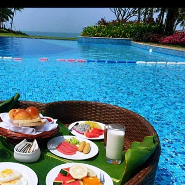 Floating Basket Swimming Pool for Meals