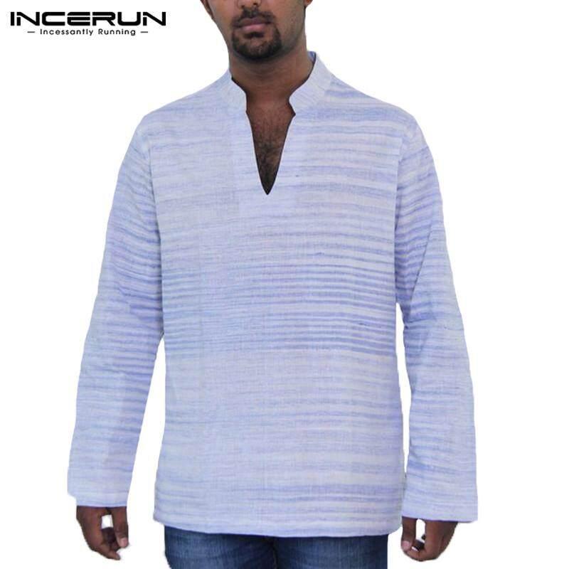 f97da1bbaf41 INCERUN Men African Dashiki Summer Shirts Boho Henley Top Printed Ethnic Blouse  Tee Plus