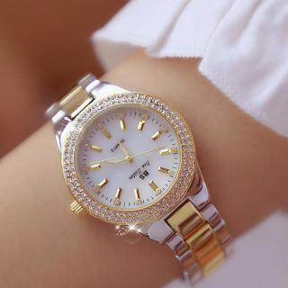 BS Bee Sister 1258 Đồng hồ đeo tay dành cho nữ dây đồng hồ làm bằng thép không gỉ mặt đồng hồ đính đá kim cương phong cách thời trang Hàn Quốc thuận tiện đeo ngày thường - INTL thumbnail