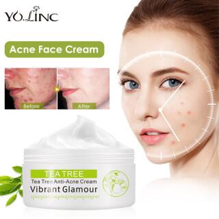 YOLINC Facial Cream Moisturizing Cream Tea Tree Anti-Acne Face Cream Oil Control Shrink Pores Acne Cream Nourish Whitening Moisturizing Acne Scar Remove Skin Care 30g thumbnail