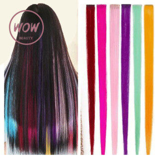 WOW-BEAUTY 10 Warna Tóc Giả Dài Thời Trang Hàn Quốc Cho Nữ Tóc Giả Màu Chuyển Sắc Kẹp Tóc Nối thumbnail