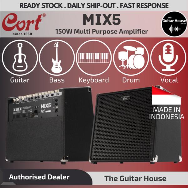 Cort MIX5 150watt 5-channel Multi-Purpose Amplifier (Guitar/Bass/Keyboard/Drum/Vocal) Malaysia