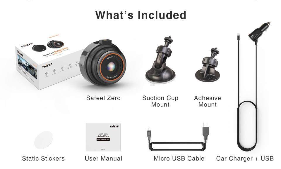 ThiEYE Safeel Zero Car DVR Dash Camera Real 1080P 170 Wide Angle With  G-Sensor Dash Cam Parking Mode Driving Car Dashcam Camera