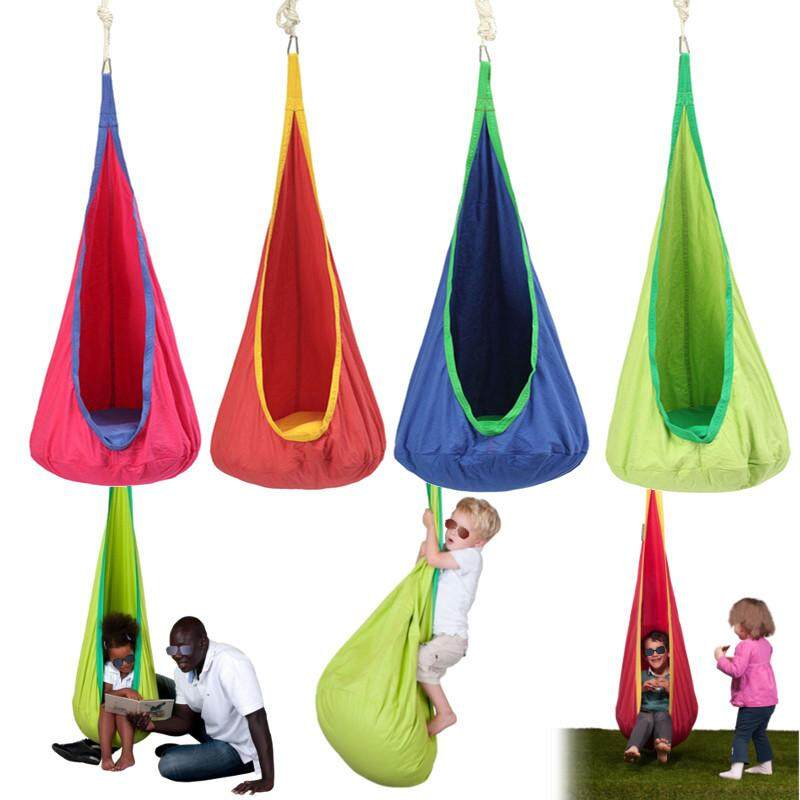 【free Shipping + Flash Deal 】child Pod Swing Chair Reading Nook Tent Indoor Outdoor Hanging Seat Hammock Kids New(4 Color For Choice) By Freebang.