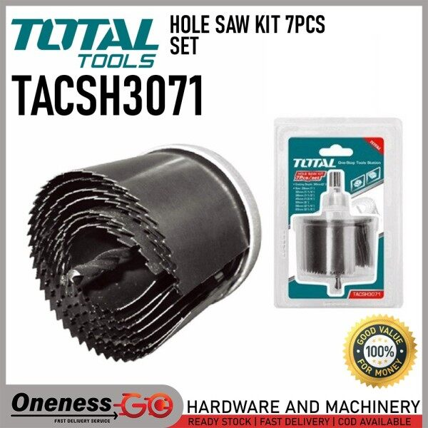 TOTAL 7PCS HOLE SAW SET -26~63MM - TACSH3071