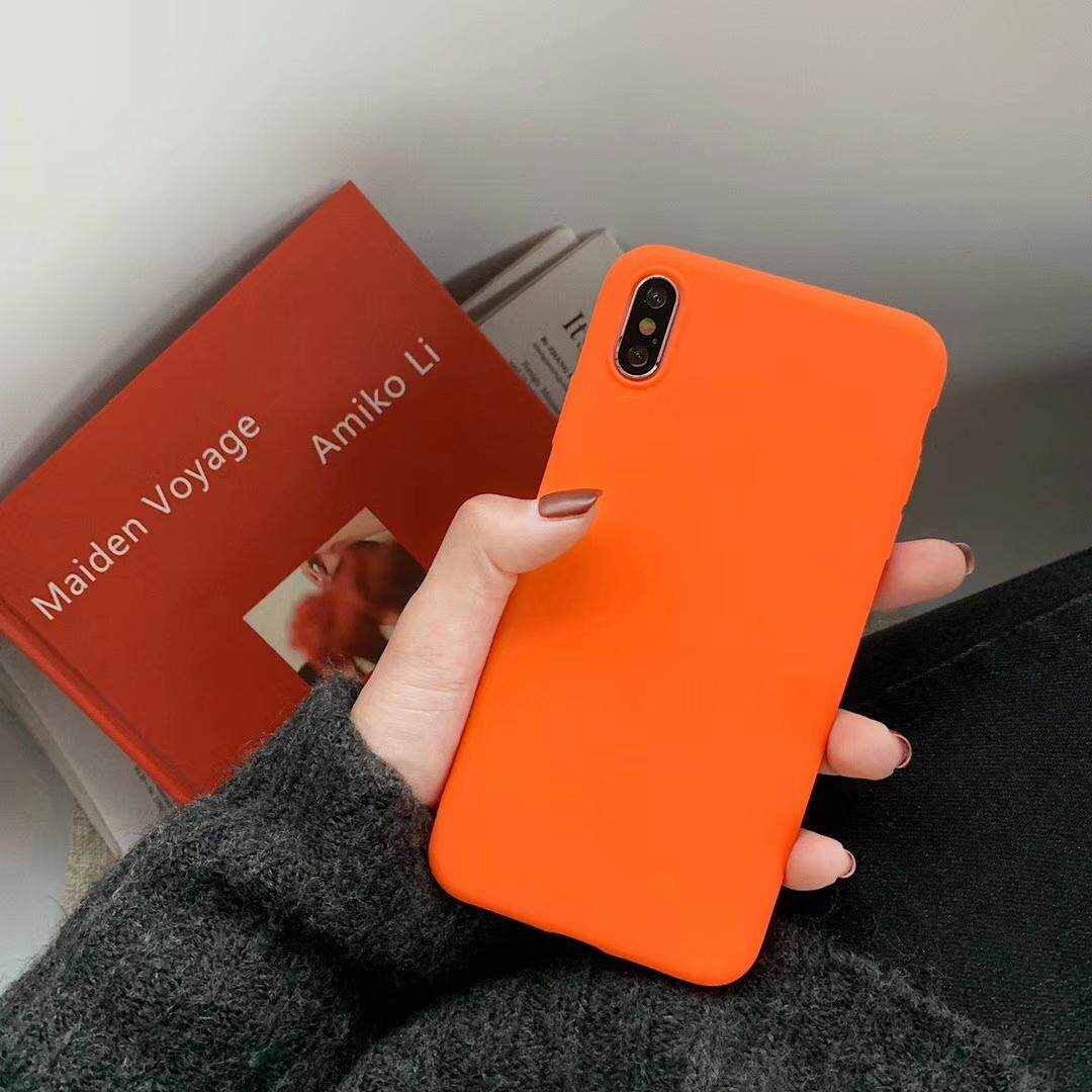 2019 fashion color Living Coral Orange Phone Case For Apple iPhone X Xs Max XR 8