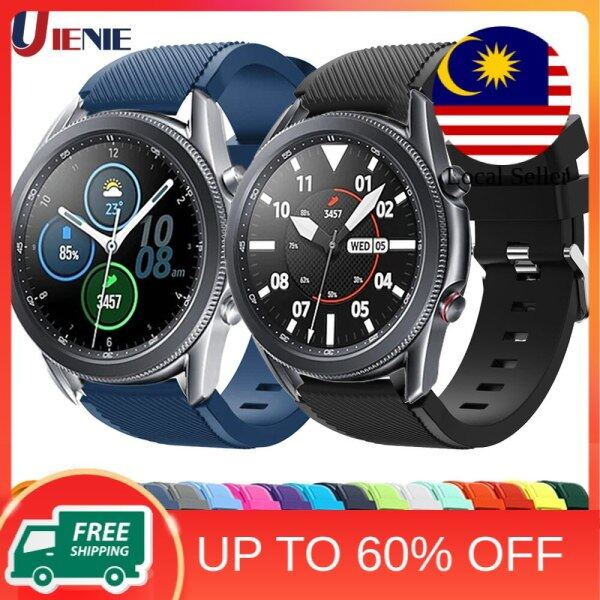 22mm Silicone Watchband Strap for Samsung Galaxy Watch 3 45mm- Gear S3 -46mm Bracelet Band Sport Replacement Wristband Malaysia
