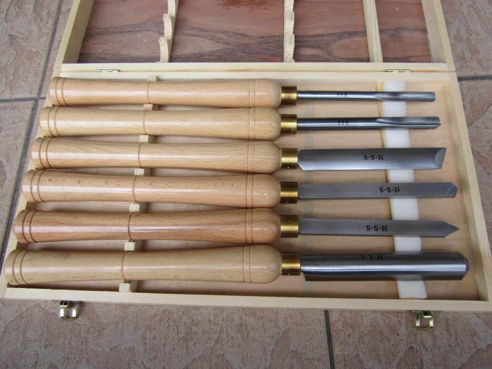 Professional 6pcs 400mm Wood Turning HSS Chisel Set, Wood Turning Chisel Set
