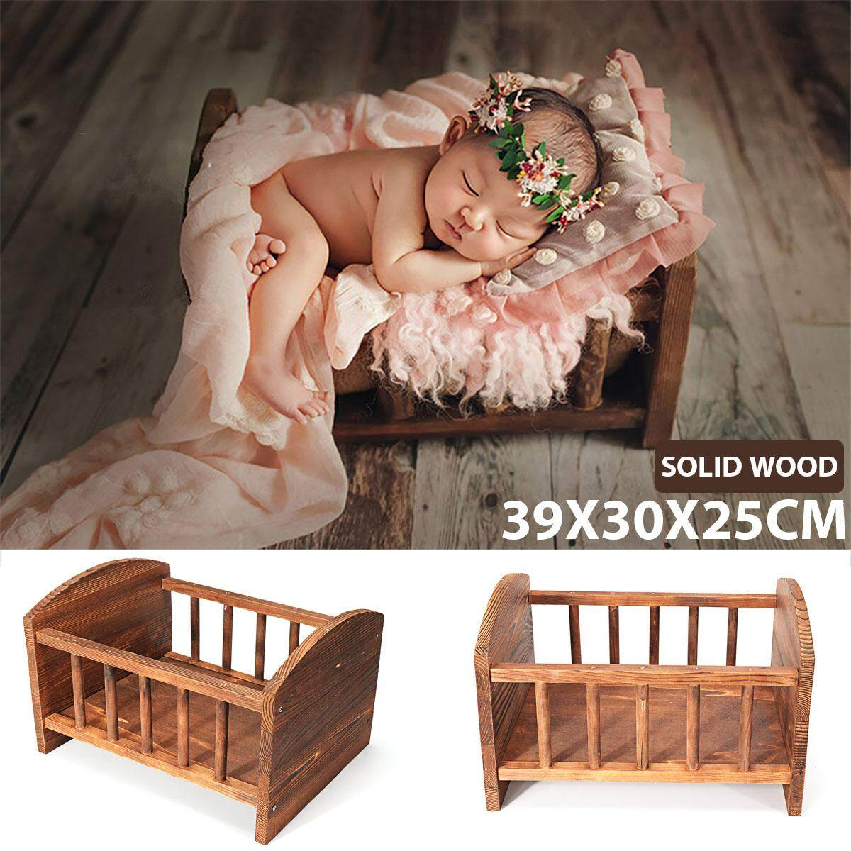 Photography Prop Cot Baby Photo Bed S Newborn Photographic Wooden Bed