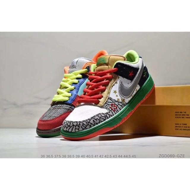 ยี่ห้อนี้ดีไหม  เพชรบุรี Nike Men SB Dunk Low GS Camo สีเขียวสเก็ตบอร์ดสีรองเท้ากีฬา