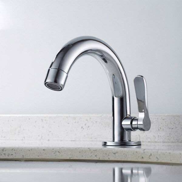 Stainless Steel Faucet Wash Basin Single Cold Water Faucet Quality Anti-Corrosive Modern Minimalist Bathroom Basin Tap Kitchen Faucet