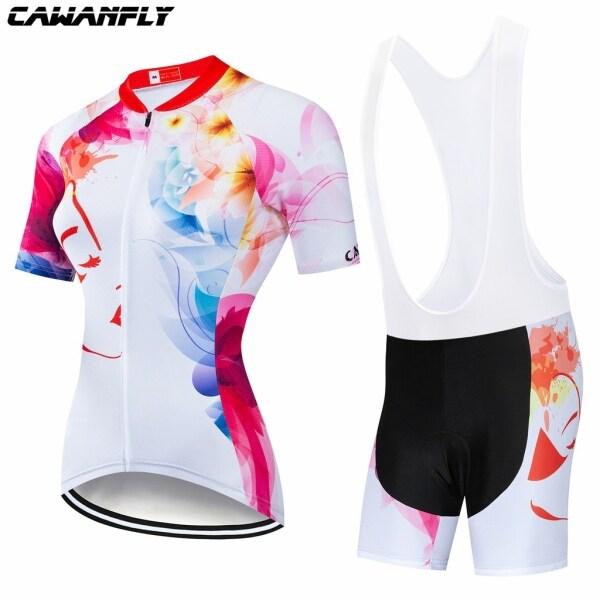 2021 Phụ Nữ Mới Áo Đi Xe Đạp CAWANFLY Mùa Hè Đội Tay Ngắn Nhanh Khô Thiết Bị Đạp Xe