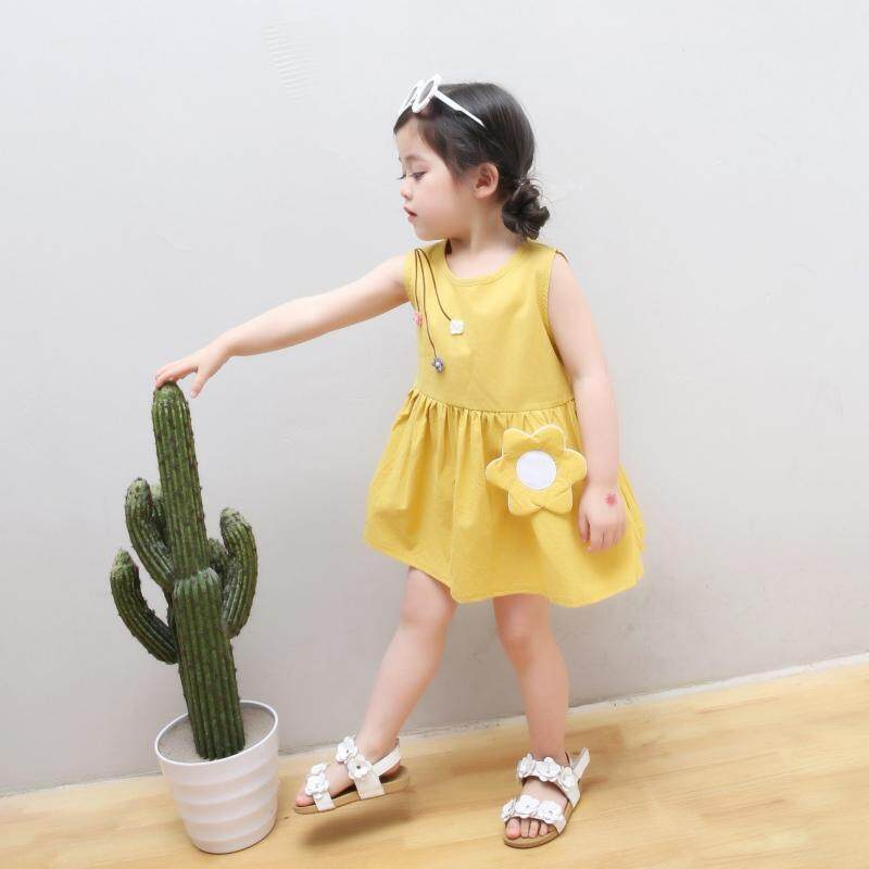 b30e8fe6c62e Product details of Baby Kids Toddler Girls Dresses Clothes Summer Children  Sleeveless Sundress Baby Cotton Princess Dress Outfit