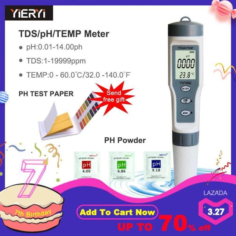 Yieryi 3 trong 1 Thử TDS/PH/TẠM Nước Chất Lượng Màn Hình BÚT Thử NƯỚC TDS Bộ cho Bể Nước Uống acidometer