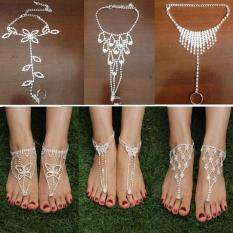 Vòng đeo tay mắt cá chân 1 mảnh pha lê trang sức cho cô dâu thời trang nữ tính duyên dáng – INTL