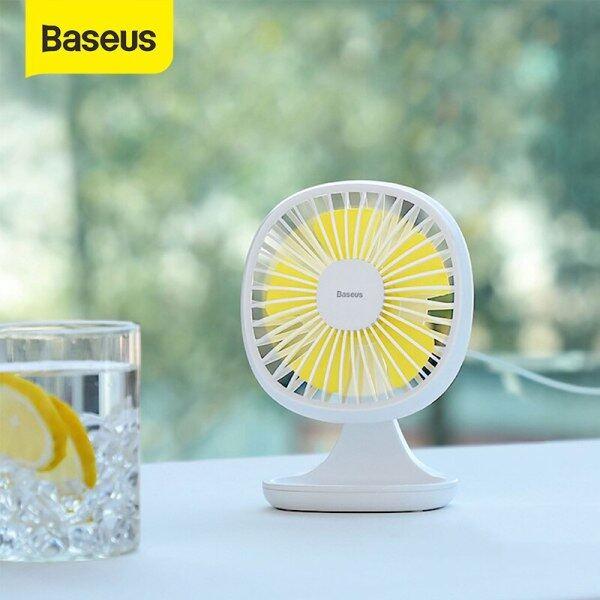 Baseus USB Gadget Portable Fan Ventiladors 3-Speed Electric Mini USB Silent Fan Summer Cooling 5 Blades Desktop Office Fan
