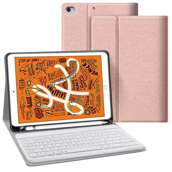 Giá Dành cho iPad Mini 5 2019 Bàn Phím với Bút chì, bàn Phím Bluetooth không dây và Từ Tính Mạnh Tự Động Ngủ/Đánh Thức Thông Minh dành cho New Apple iPad Mini 5th Gen 2019 phát hành
