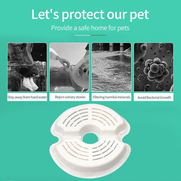Lemonbest Bộ Lọc Đài Phun Nước Than Hoạt Tính 4 Cái Bình Nước Dạng Tròn, Bộ Lọc Thay Thế Bộ Lọc Pet Thay Thế Bộ Lọc Đài Phun Nước