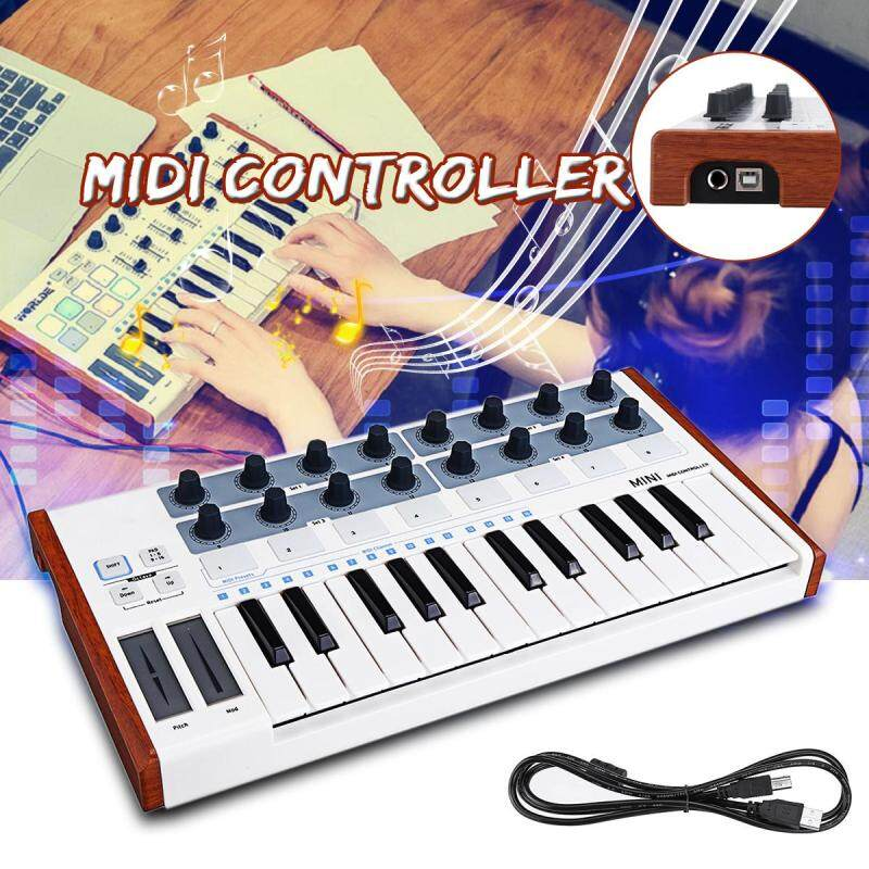 Worlde Portable MIDI Keyboard Controller Mini Professional 25 Keys USB MIDI Drum Pad Malaysia