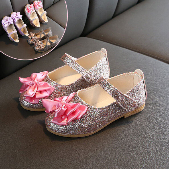 Giày Khiêu Vũ Tiantian Cho Trẻ Em, Giày Công Chúa Cột Nơ giá rẻ