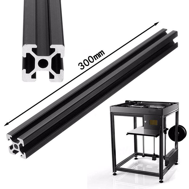 250/300/600mm T-Slot Aluminum Profiles Extrusion Frame for Printer Black