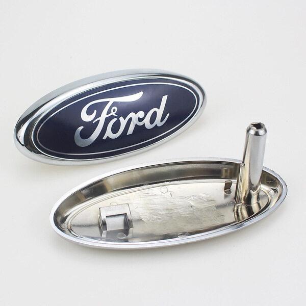 Biểu Tượng Lưới Tản Nhiệt Phía Trước 14.5X6.5Cm Dành Cho Ford Classic Focus 2005-2013 1.8 Logo Huy Hiệu Màu Xanh Biểu Tượng ABS Biển Hiệu Đầu Xe Ô Tô