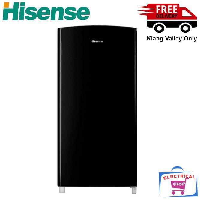 Hisense RR196D4ABM refrigerator 1 Door Fridge 170L (Black)