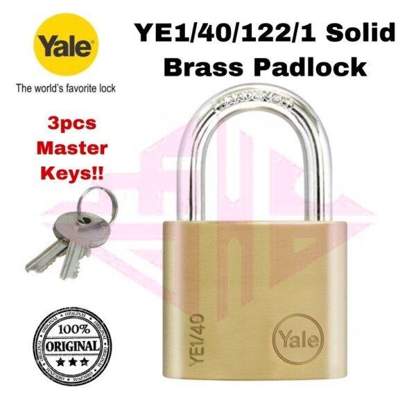 Yale Essential Series YE1 YE1/40/122/1 Essential Series YE1 Brass Padlock YE1-40-122-1 40mm pad lock mangga pintu