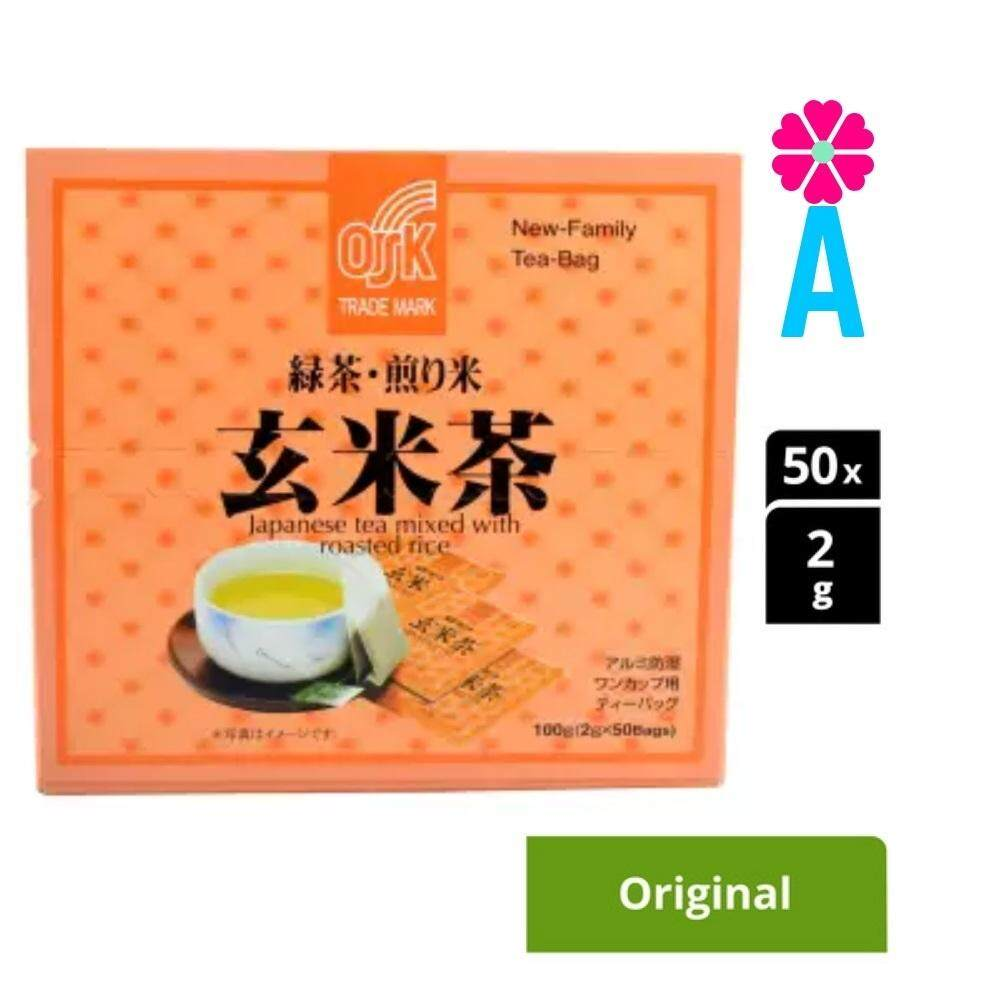 Japan Osk Japanese Tea Mixed With Roasted Rice 50 Bags X 2g (1 Box) By Abq.