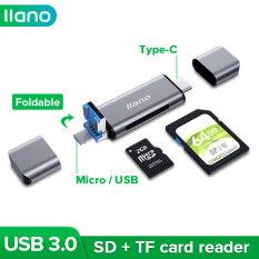 Đầu Đọc Thẻ Năm Trong Một Đa Chức Năng Llano Hỗ Trợ OTG,USB3.0,SD,Type-C,TF,MicroUSB Cho Máy Ảnh, Điện Thoại, Windows, Máy Tính Xách Tay, PC Và Hơn Thế Nữa