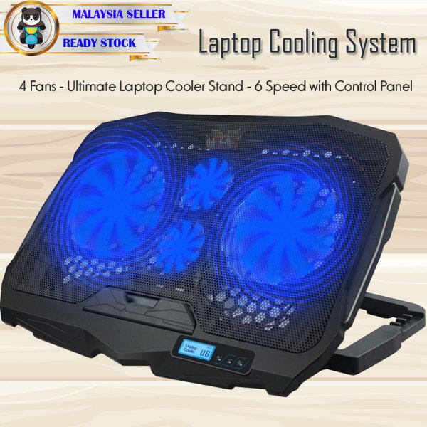 Laptop Cooling Pad with Stand Adjustable 6 Speed 2 USB Port Laptop Cooler Pad Cooling Laptop Fan Gaming Fan for 15 16 17 Laptop Cooling Heating Cooling Pad Notebook Stand Laptop Cooler Malaysia