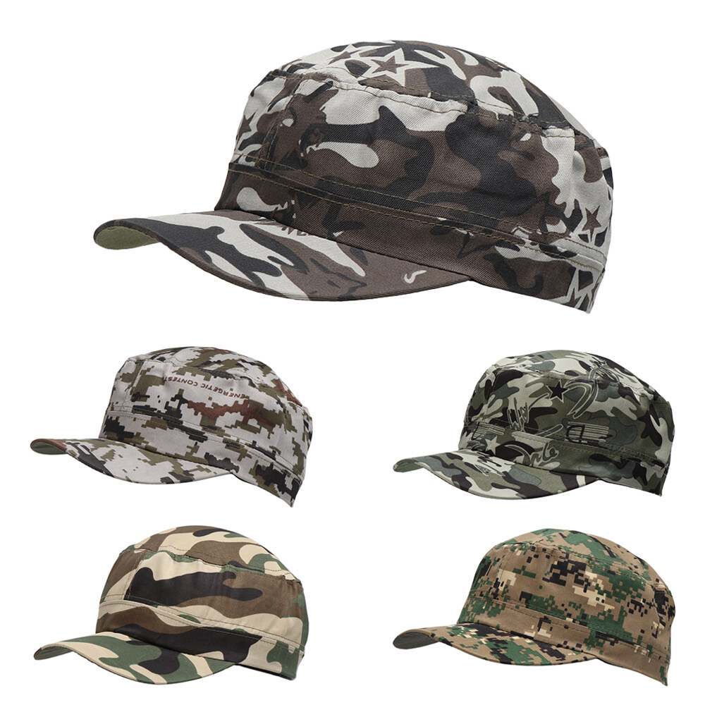 Mens Military Army Cap Baseball Cap Adjustable Cotton Outdoor Sports Sun Hat