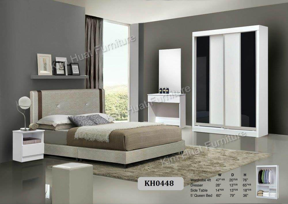 Promotion Rm999 Kim Huat Furniture Bedroom Set Queen Bed + Wardrobe + Dresser + Side Table By Kim Huat Furniture Trading.