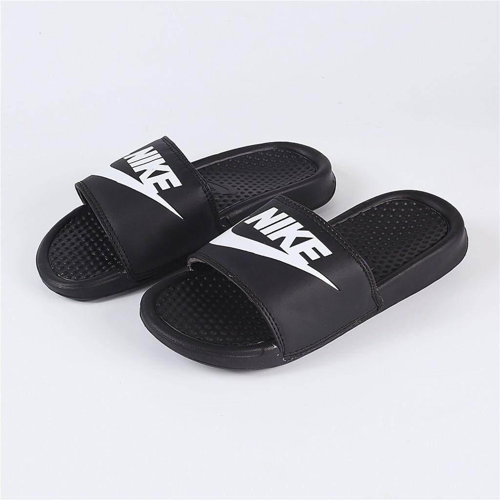 b7606e7243dca NIKE BENASSI JDI white Black Fashion Slide Sandal slippers