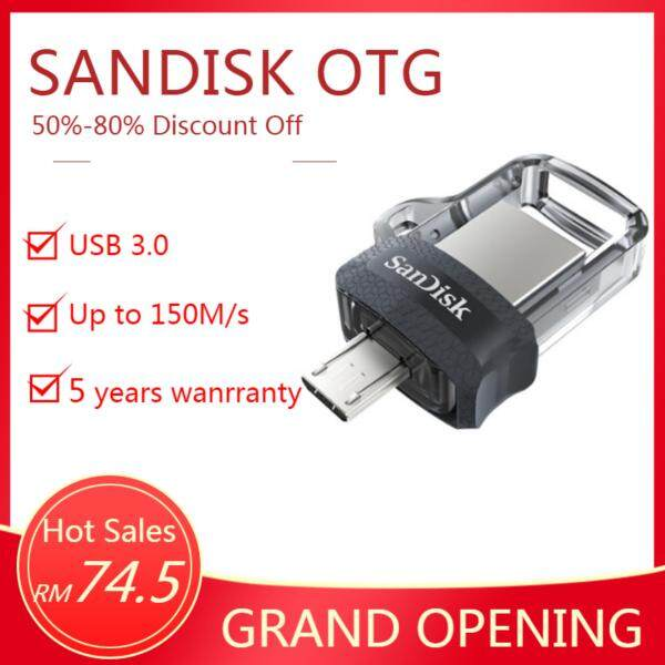 Giá Thẻ Nhớ sandisk Ultra Dual 128 Gb M3.0 Otg Usb 3.0 Cho Máy Tính Và android Otg Thiết Bị Đen (Tốc Độ Lên Tới 150 Mb/Giây)