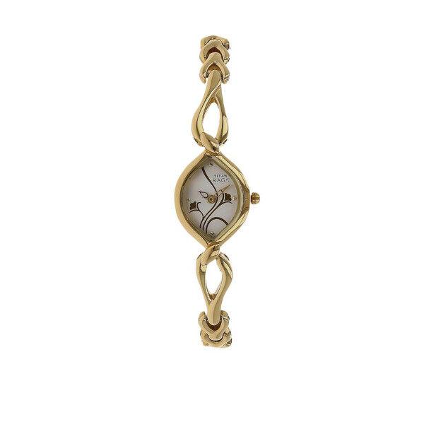 Titan 2455YM01 Raga Silver Dial With Gold Metal Strap Watch Malaysia