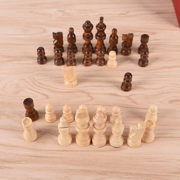 32Pcs/Set 64Cm Height Wooden Chess Pieces Entertainment Games Hot Sale
